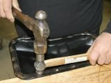 ball peen and hammer on sheet metal